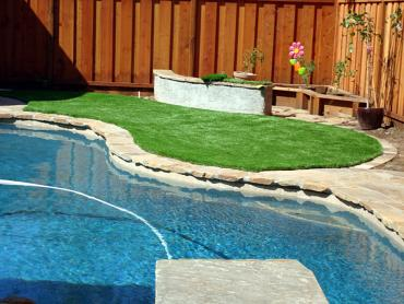 Artificial Grass Installation Pine Mountain Club, California Paver Patio, Backyard Pool artificial grass