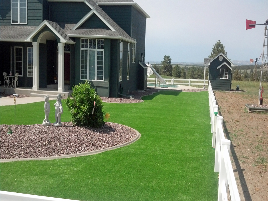 Synthetic Turf Saticoy California Roof Top Front Yard Design